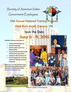 Save the Date SAIGE 2016