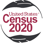 2020 Census logo with feathers